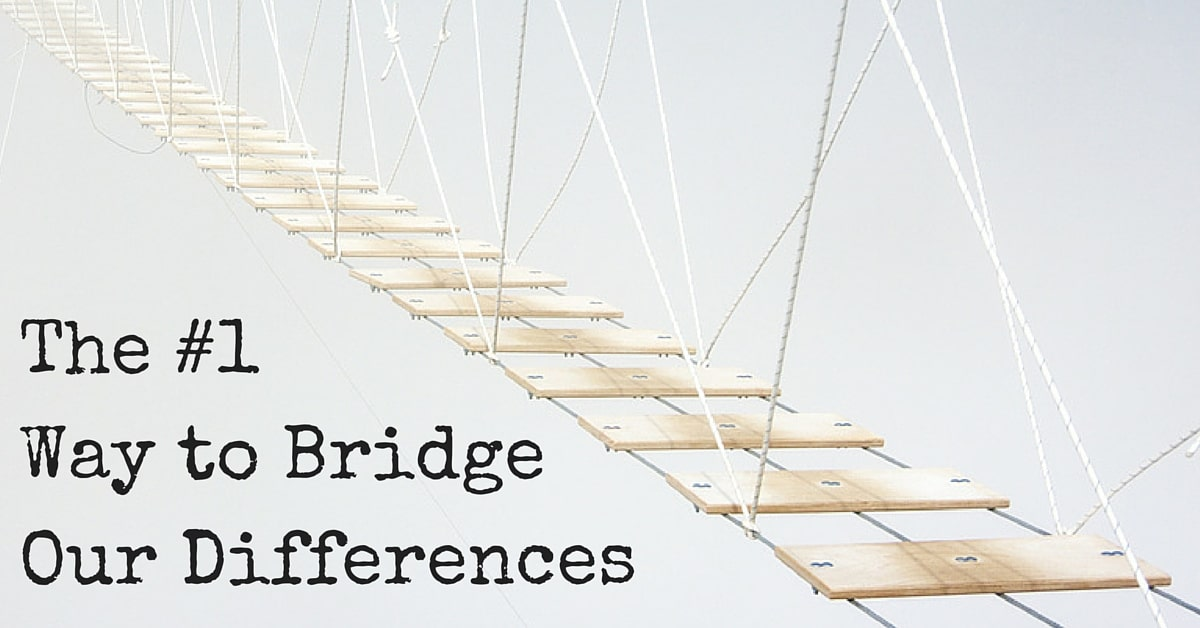 The #1 Way to Bridge Our Differences