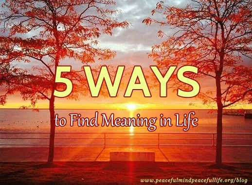 5 Ways to Find Meaning in Life